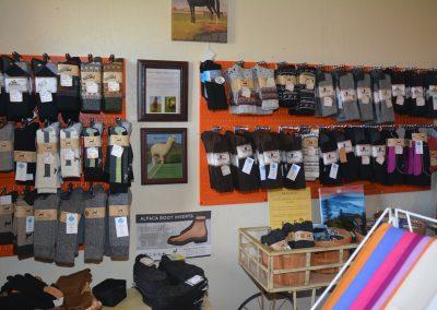Sock rack at Poppy's